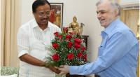 Shri V. Muraleedharan MP calls on the Governor.