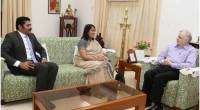 When Mrs.Chitranganee Wagiswara, High Commissioner of Sri Lanka in India called on the Governor at Kerala Raj Bhavan - 16th June 2018.