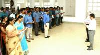 Governor administering the  National Integration  Pledge to the staff of  Kerala Raj Bhavan on 19 November