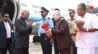 Governor receives Shri. Ramnath Kovind, Honourable President at Thiruvananthapuram
