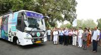Governor Flags off the Digi Gaon Yatra of the Mobile Science Exploratory of P N Panicker Foundation on 21st April