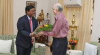 Shri Vishvas Sapkal, High Commissioner of India to Fiji call on Hon'ble Governor on 13th December 2017