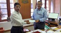 Ockhi relief by the Hon'ble Governor handed over to the Chief Secretary