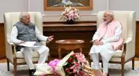 Shri Arif Mohammed Khan, Honorable Governor with Hon'ble Prime Minister Shri Narendra Modi at his residence, New Delhi.